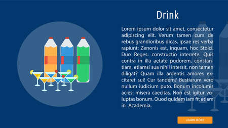 Juice drink icon illustration.