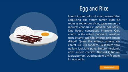 Egg and Rice illustration