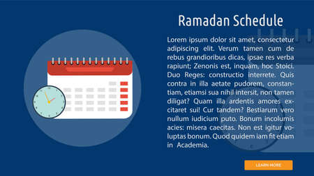 Ramadan Schedule icon illustration Иллюстрация