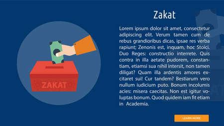 Zakat icon illustration