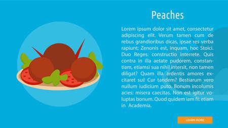 Peaches icon illustration Ilustração