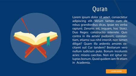 Quran icon illustration