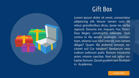 Gift Box icon illustration 일러스트