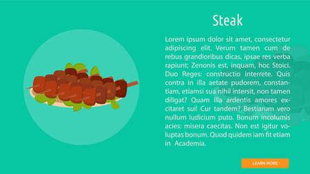 Steak icon illustration