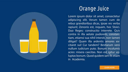 Orange Juice icon illustration 일러스트