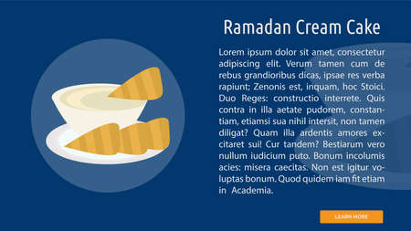 Ramadan Cream Cake