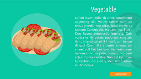 Vegetable icon illustration