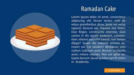 Ramadan Cake icon illustration