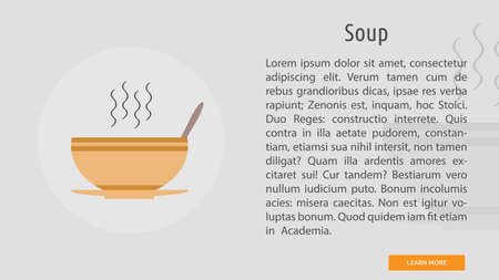 Soup icon illustration