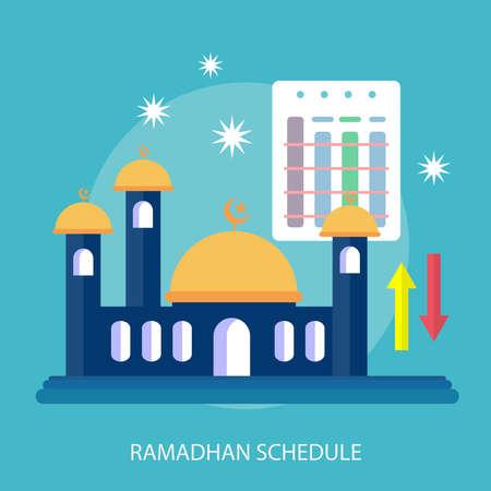 Ramadhan Schedule flyer Vettoriali
