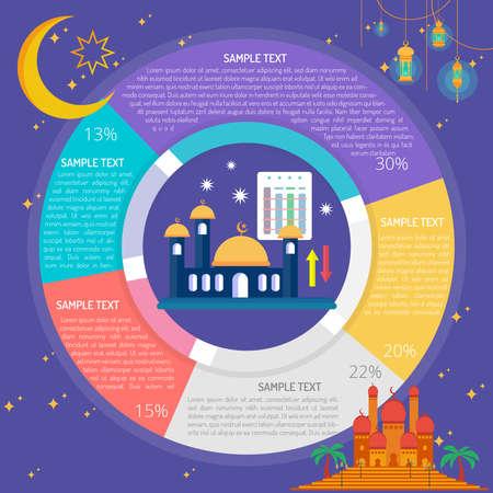 Ramadhan Schedule Infographic Diagram Иллюстрация