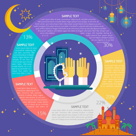 Ramadhan Pray Infographic Diagram Stock Illustratie