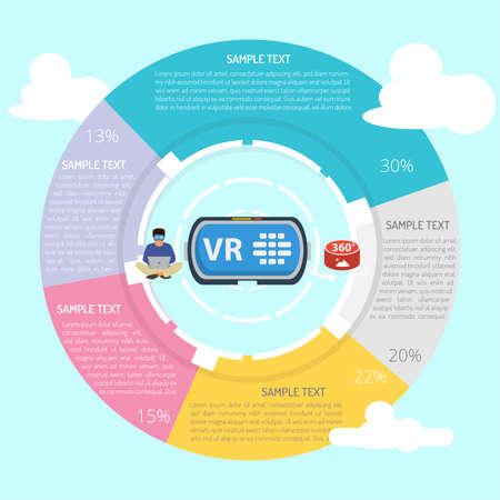 Virtual Reality Infographic Diagram