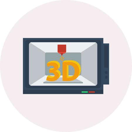3d Modelling vector illustration.