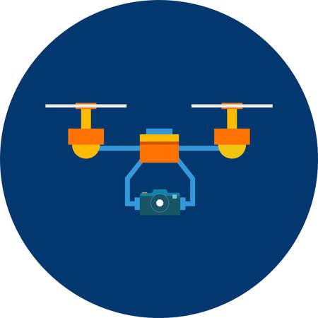 Air drone vector illustration.