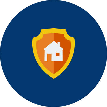House Protection vector illustration. Иллюстрация