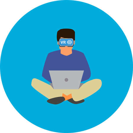 Virtual Reality vector illustration. Illustration