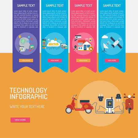 Technology Infographic Banque d'images - 101801639