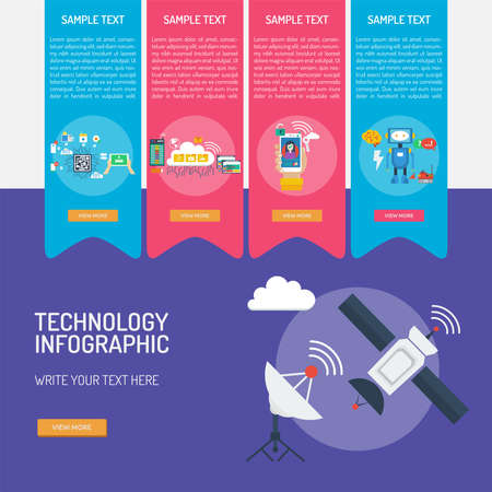 Technology Infographic Banque d'images - 101801641