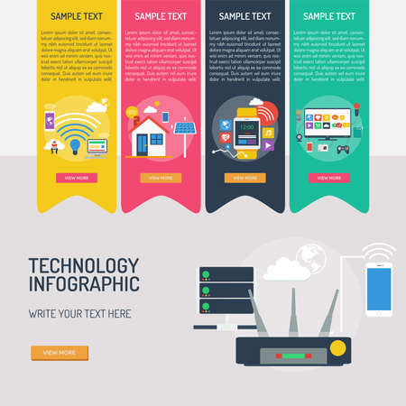 Technology Infographic Banque d'images - 101801642