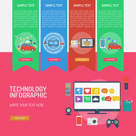 Technology Infographic Banque d'images - 101801644
