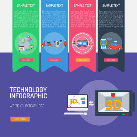 Technology Infographic Banque d'images - 101801663