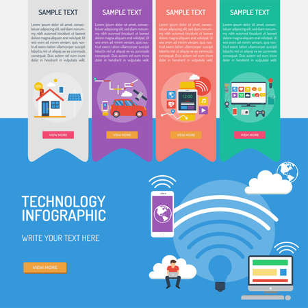 Technology Infographic Banque d'images - 101801666