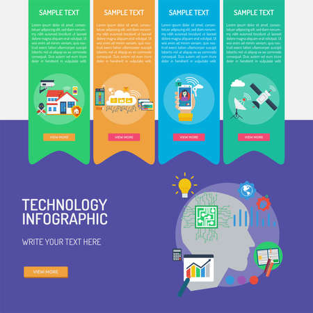Technology Infographic Banque d'images - 101801668