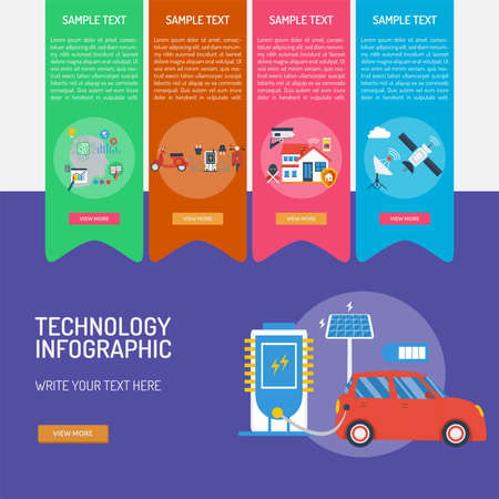 Technology Infographic Banque d'images - 101801671