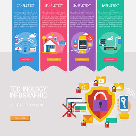 Technology Infographic Banque d'images - 101801674