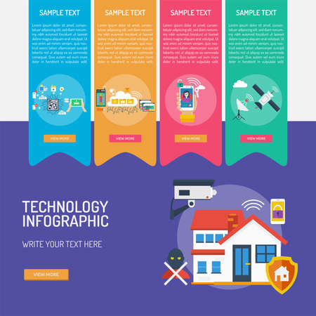Technology Infographic Banque d'images - 101801679