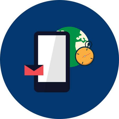 Mobile Access icon Illusztráció
