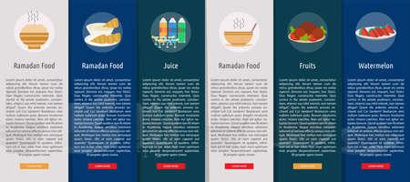 Ramadan Vertical Banner Concept Stock Illustratie