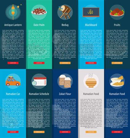 Ramadan Vertical Banner Concept Ilustração