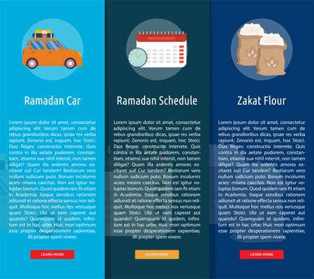Ramadan Vertical Banner Concept Иллюстрация