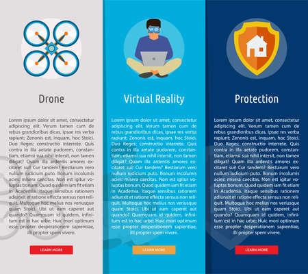 Technology Vertical Banner Concept