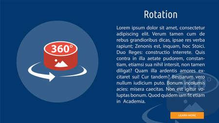 Rotation illustration Иллюстрация