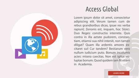Access Global Illusztráció