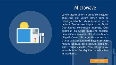 Microwave concept Ilustrace