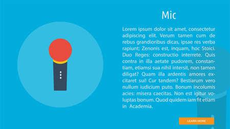 Microphone icon Иллюстрация