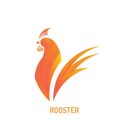 Rooster Logo | with golden ratio technique and gradient color