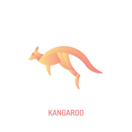 Jumping Kangaroo | with golden ratio technique and gradient color