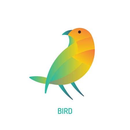 Bird Logo | with golden ratio technique and gradient color Vectores