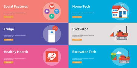 Technology Banner Design Иллюстрация