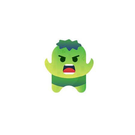 Karakter Monster Design. Groen karakter