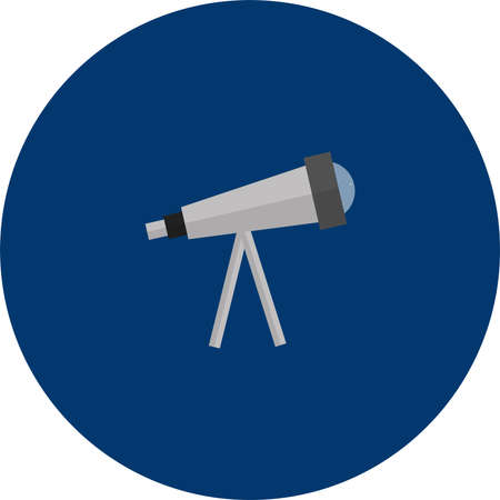 Telescope vector illustration