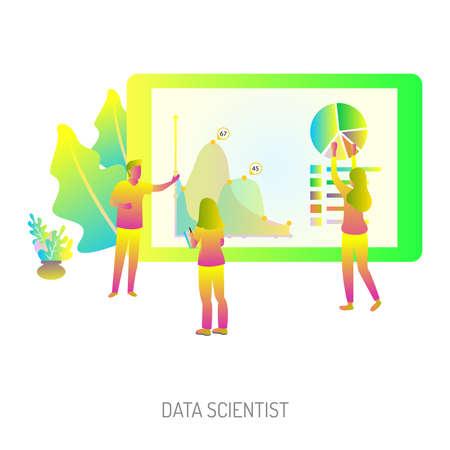 Data Scientist Conceptual Design  イラスト・ベクター素材
