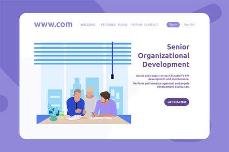 Landing Page Design Senior Organizational Development