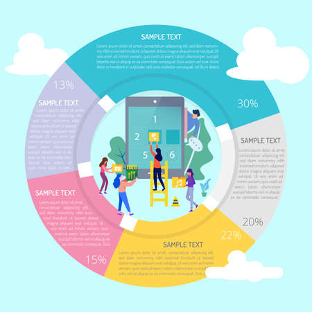 Mobile Apps Infographic Diagram