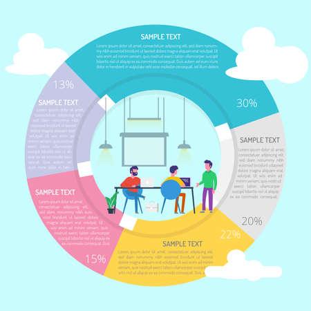 Development Specialist Infographic Diagram Ilustração